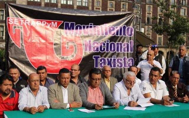 Las vías que bloquearán los taxistas en la Ciudad de México el lunes - Movimiento Nacional Taxista taxistas Ciudad de México