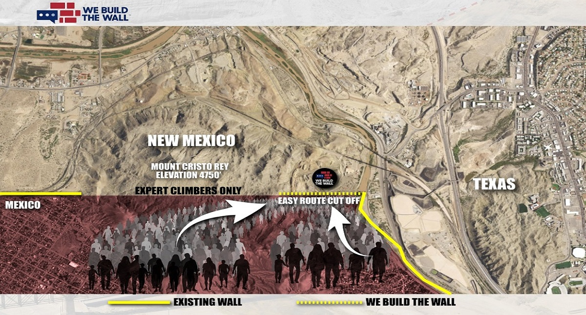 Plan de construcción del muro. Foto de We Build the Wall
