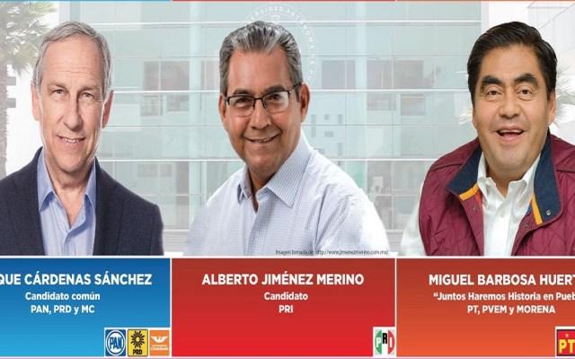 Cómputos distritales de Puebla comenzarán el miércoles - Candidatos a la gubernatura de Puebla. Foto de @INEMexico
