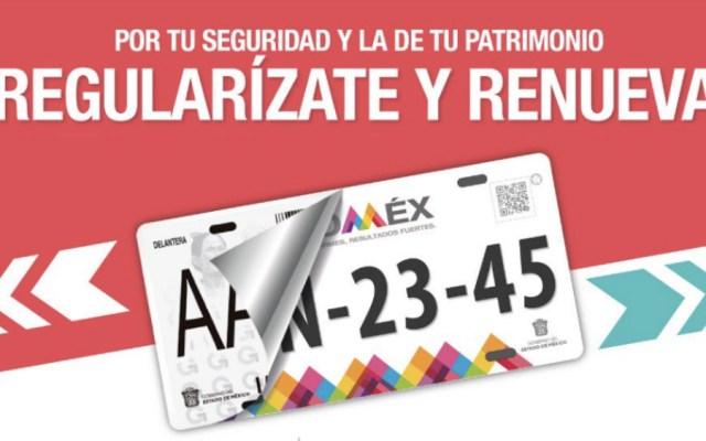 Reemplacamiento en Estado de México será gratuito en julio y agosto - Foto de @ContribuyenteEM