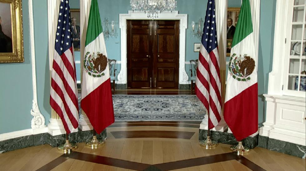 EE.UU. retoma diálogo con México como reconocimiento de agenda económica común - Sala del Departamento de Estado de Estados Unidos. Foto de @mexico.usembassy