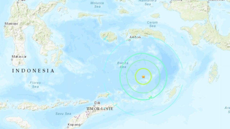 Sismo de 7.3 en Indonesia se sintió hasta en Australia - Foto de USGS