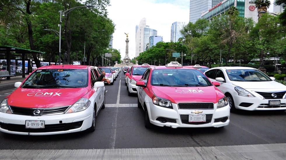Taxistas afectan 17 puntos de Ciudad de México: Rosa Icela Rodríguez - taxistas ciudad de méxico manifestación