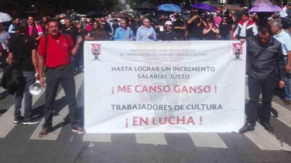 Secretaría de Cultura llama a trabajadores a liberar sus oficinas - toma secretaría de cultura