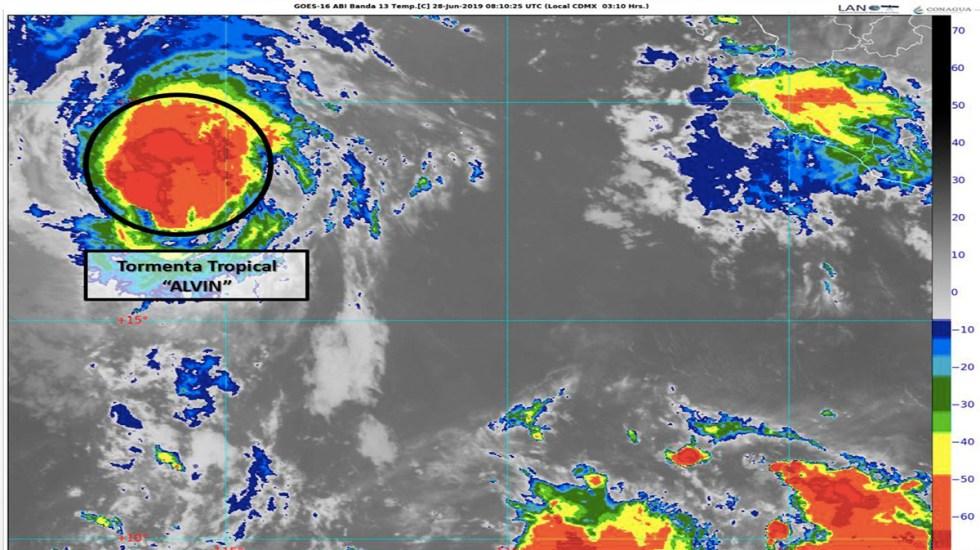 Alvin pierde fuerza y se degrada a tormenta tropical - tormenta tropical alvin