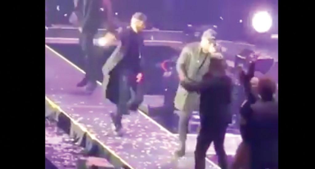 #Video Wisin se cae del escenario - Captura de pantalla