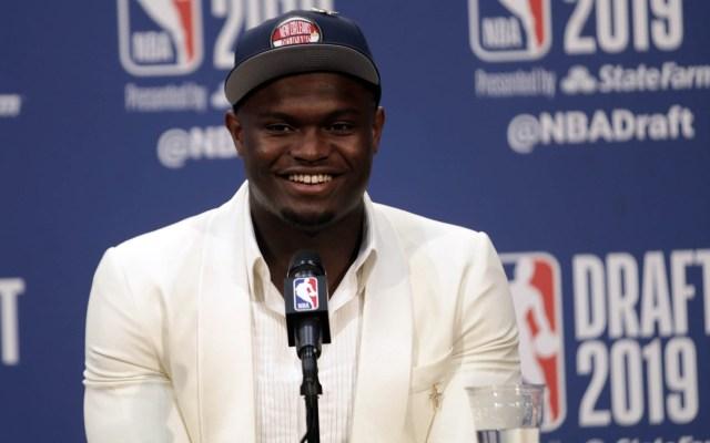 Zion Williamson es la primera selección del Draft de la NBA - Zion Williamson NBA Pelicans