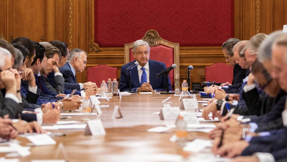 López Obrador se reúne con banqueros en Palacio Nacional - Foto de @lopezobrador_