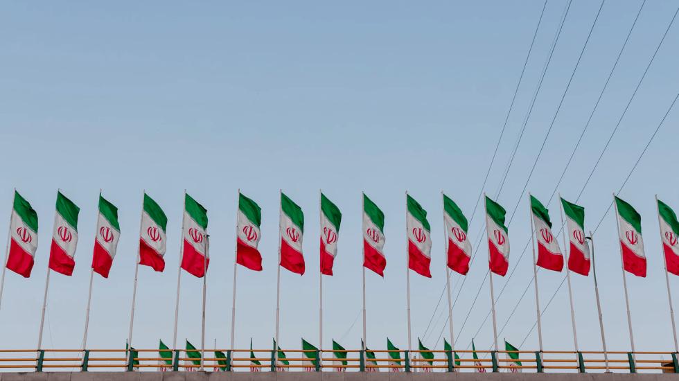 """Irán protesta por declaraciones """"bélicas"""" de Trump - Bandera de Irán"""