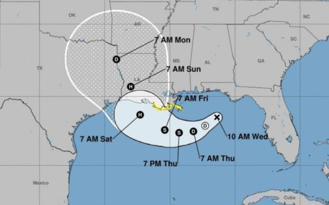 Louisiana en emergencia ante previsión de primer huracán de la temporada en el Atlántico - Foto de NOAA