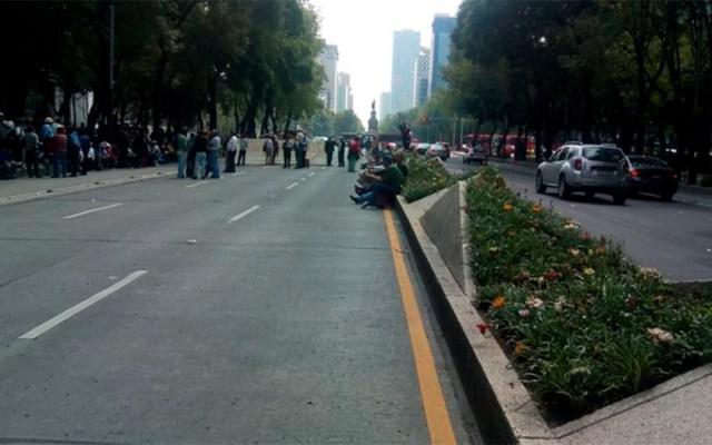 Manifestantes bloquean Paseo de la Reforma - bloqueo paseo de la reforma