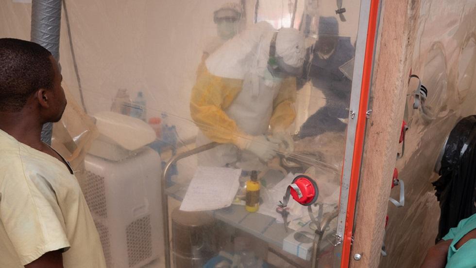 Secretaría de Salud descarta casos de ébola en México - Centro de lucha contra el ébola en el Congo. Foto de Unicef / Guy Hubbard