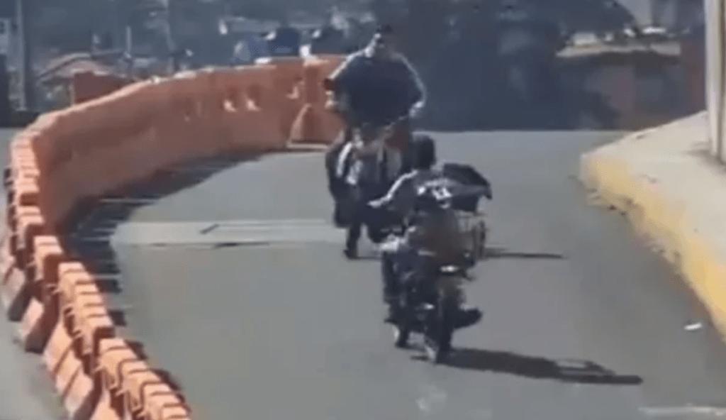 #Video Choque de dos motocicletas en el Estado de México. Noticias en tiempo real