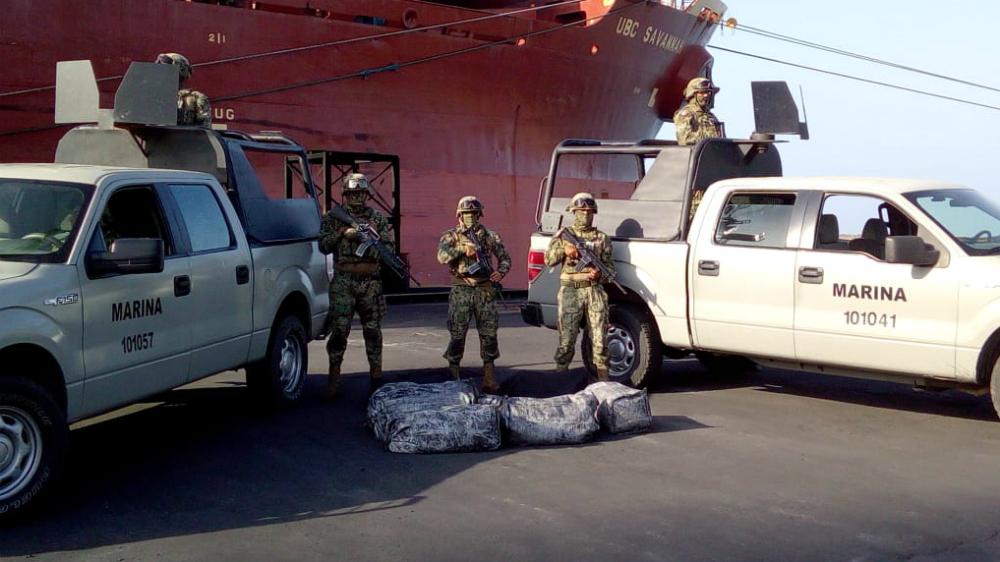 Semar asegura en Tamaulipas 225 kilos de cocaína