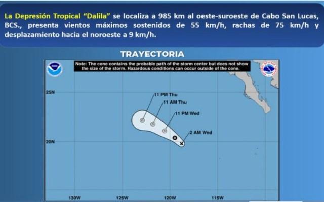 Dalila se degrada a Depresión Tropical - depresión tropical dalila