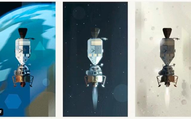 #Video Detrás del doodle que recrea llegada del hombre a la Luna - doodle google luna