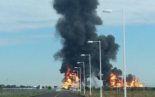 #Video Explota ducto de Gas LP de Pemex en Celaya - Explosión de ducto en Celaya. Foto de @Okrr