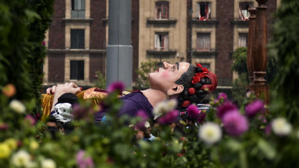 """""""Los colores de Frida"""" pintan el Zócalo capitalino. Noticias en tiempo real"""