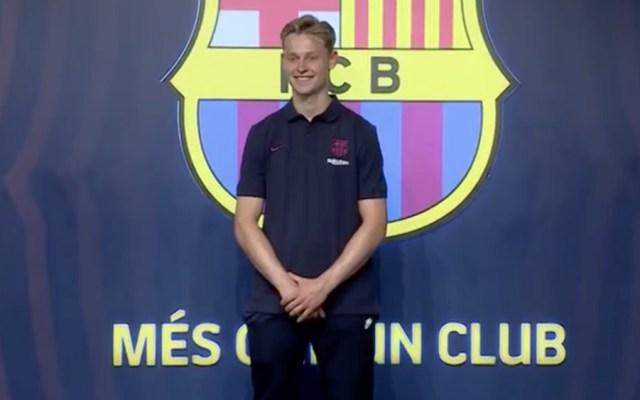 Frenkie de Jong llegó a Barcelona para su presentación - Foto de FC Barcelona