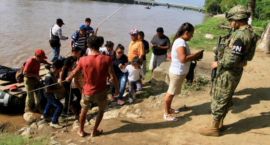 Guardia Nacional refuerza presencia en río Suchiate - Guardia Nacional Río Suchiate