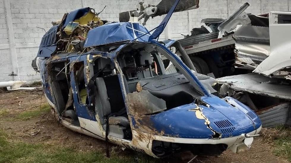 Detienen a policía estatal sospechoso de derribar helicóptero en Edomex - Helicóptero FGR Estado de México derribo