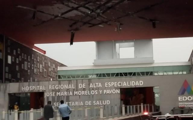 Extinguen incendio en Hospital Regional de Zumpango - Foto de Radio y TV Mexiquense
