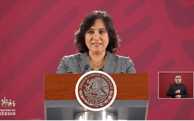 Confirma SFP siete investigaciones contra exdelegado Carlos Lomelí - Irma Eréndira Sandoval en conferencia de prensa. Captura de Pantalla.