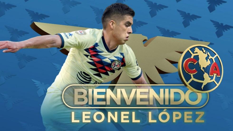 América confirma contratación del mediocampista Leonel López - Foto de @ClubAmerica