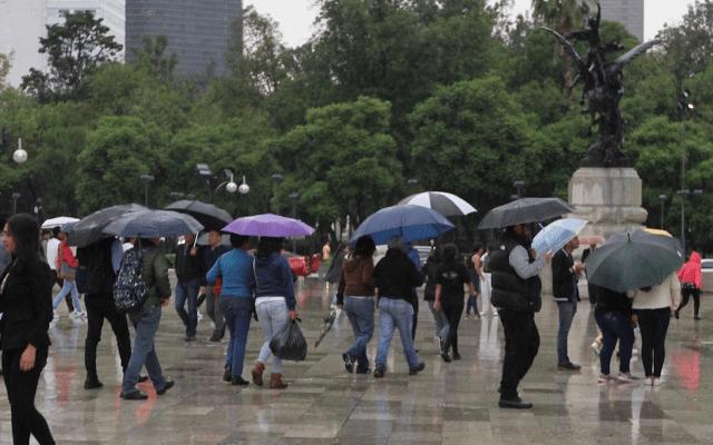 Pronostican un día lluvioso en la mayor parte del país - Lluvia Ciudad de México