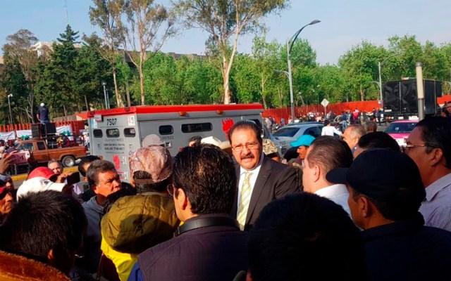 Manifestantes cierran accesos de Cámara de Diputados - manifestantes cámara de diputados