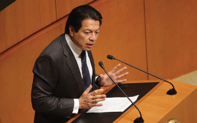 """Mario Delgado llama a oposición a dejar atrás """"falsos debates"""" y discutir propuesta de AMLO - En la foto, el diputado Mario Delgado. Foto de Notimex"""