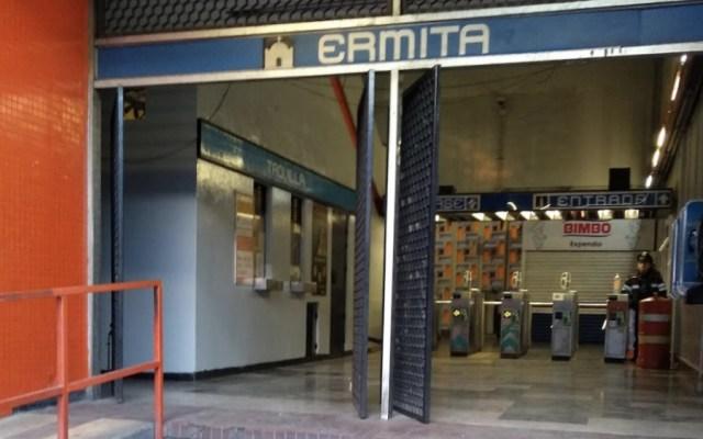 Policías bancarios auxilian a niñas extraviadas en Metro Ermita - Foto de Google Maps