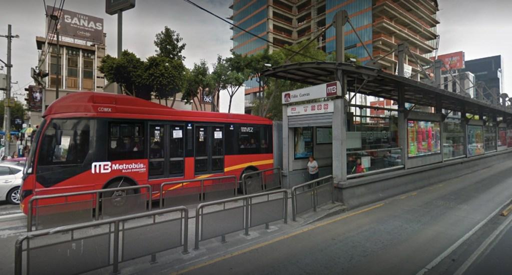 Abren licitación para ampliación de estación Félix Cuevas del Metrobús - Captura de pantalla