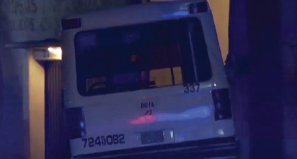 Microbús choca contra librería en el Centro Histórico de la capital - Microbús, archivo. Foto de Noticieros Televisa