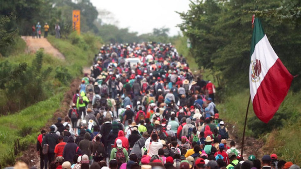Honduras y México revisarán tema migratorio en reunión presidencial - Migrantes en la frontera de México. Foto de Desde la Fe
