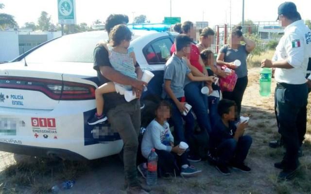 Rescatan a nueve migrantes hondureños en margen del río Bravo - Foto de SSP Tamaulipas