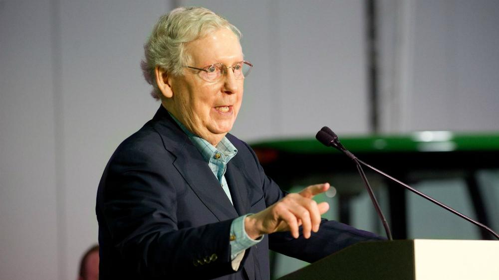 Líder del Senado de EE.UU. descarta que T-MEC sea ratificado este año - Mitch McConnell senador republocano