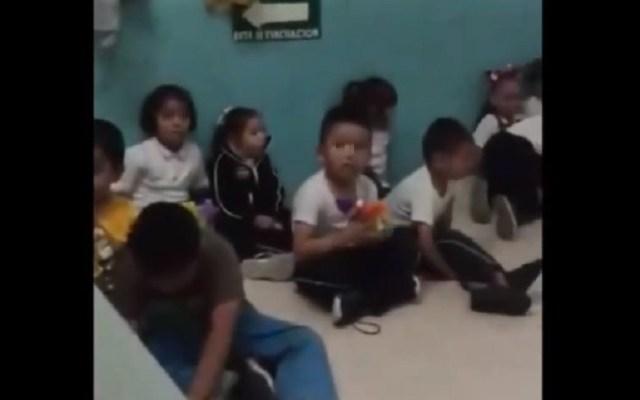 #Video Asustan a niños con grabación de 'La llorona' en guardería - Niños asustados por grabación de 'La llorona'. Captura de pantalla