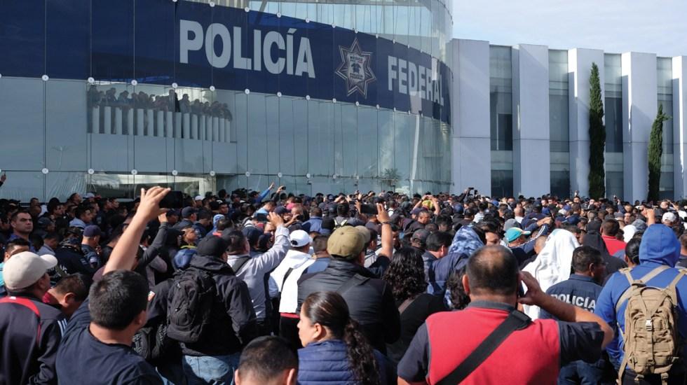 Policías federales anuncian paro nacional este jueves - Foto de EFE