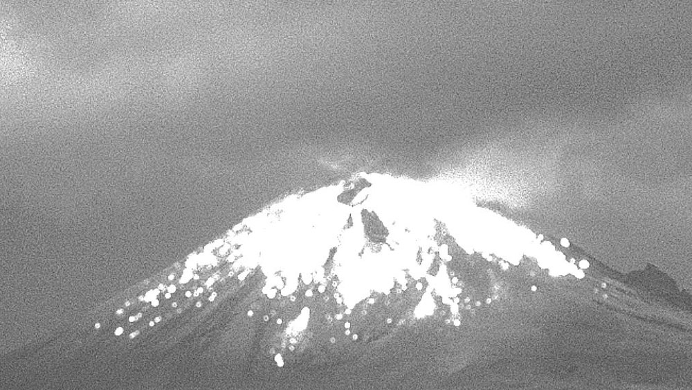 Explosión del Popocatépetl deja columna de ceniza de dos kilómetros - Popocatépetl