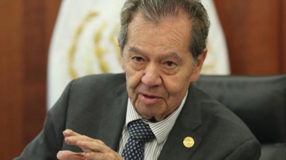 """""""Se hacen bolas en San Lázaro"""", explica Muñoz Ledo sobre fuero constitucional - Foto de Twitter, Porfirio Muñoz Ledo"""