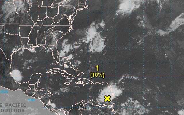 Advierten posible desarrollo de ciclón tropical al suroeste del Caribe - Posibilidad de ciclón tropical sobre el Mar Caribe. Foto de @NHC_Atlantic