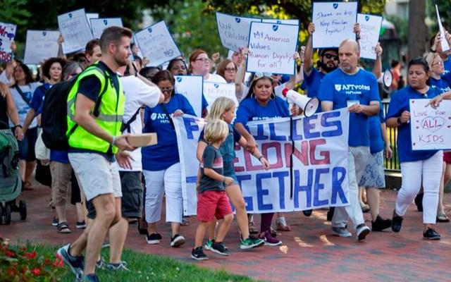 Protestan en EE.UU. contra redadas de migrantes - protestas redadas migrantes