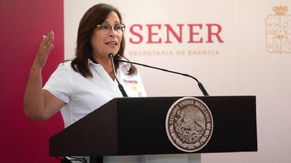 Fundamental la combinación de inversión entre IP y Estado, sostiene Nahle - Rocío Nahle, secretaria de Energía. Foto de @SENER_mx