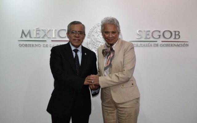 Sánchez Cordero recibe a delegado de Unión Internacional del Notariado - Foto de @M_OlgaSCordero