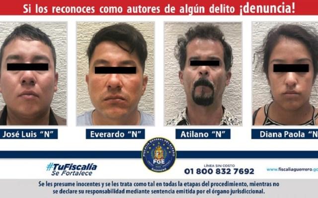 Fiscalías del Edomex y Guerrero liberan del secuestro a adolescente - Secuestradores de adolescente de 14 años en Guerrero. Foto de FGE Guerrero