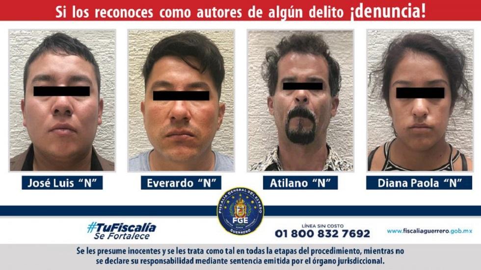 Secuestradores de adolescente de 14 años en Guerrero. Foto de FGE Guerrero