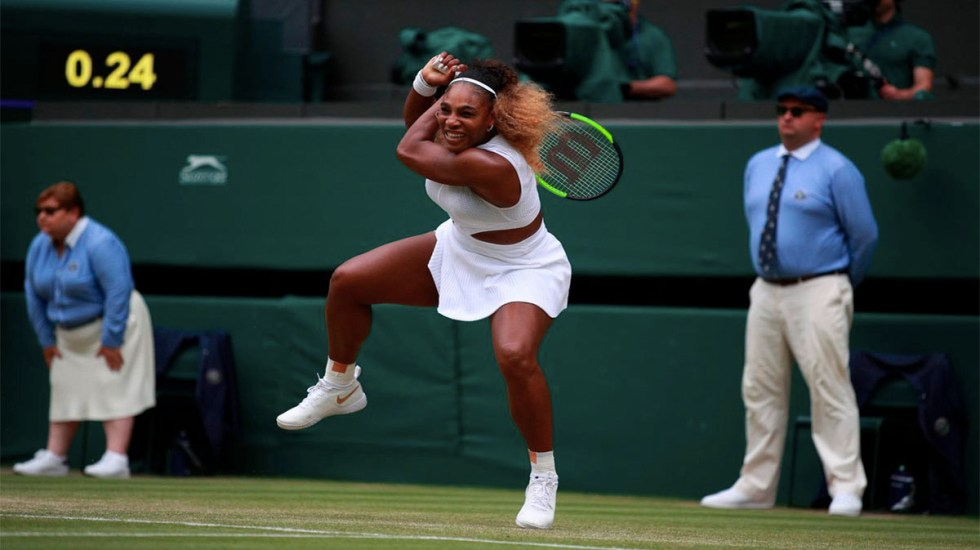 Multan a Serena Williams por dañar césped de Wimbledon - serena williams multa wimbledon