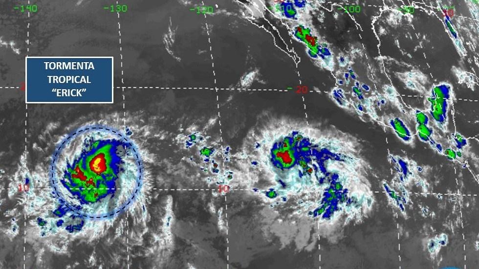 Tormenta tropical Erick se volverá huracán sin afectar a México - Tormenta tropical Erick. Foto de Conagua