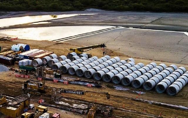 Confían en que operación de ducto Texas-Tuxpan inicie en julio - Trabajos del ducto Texas-Tuxpan. Foto de TC Energía